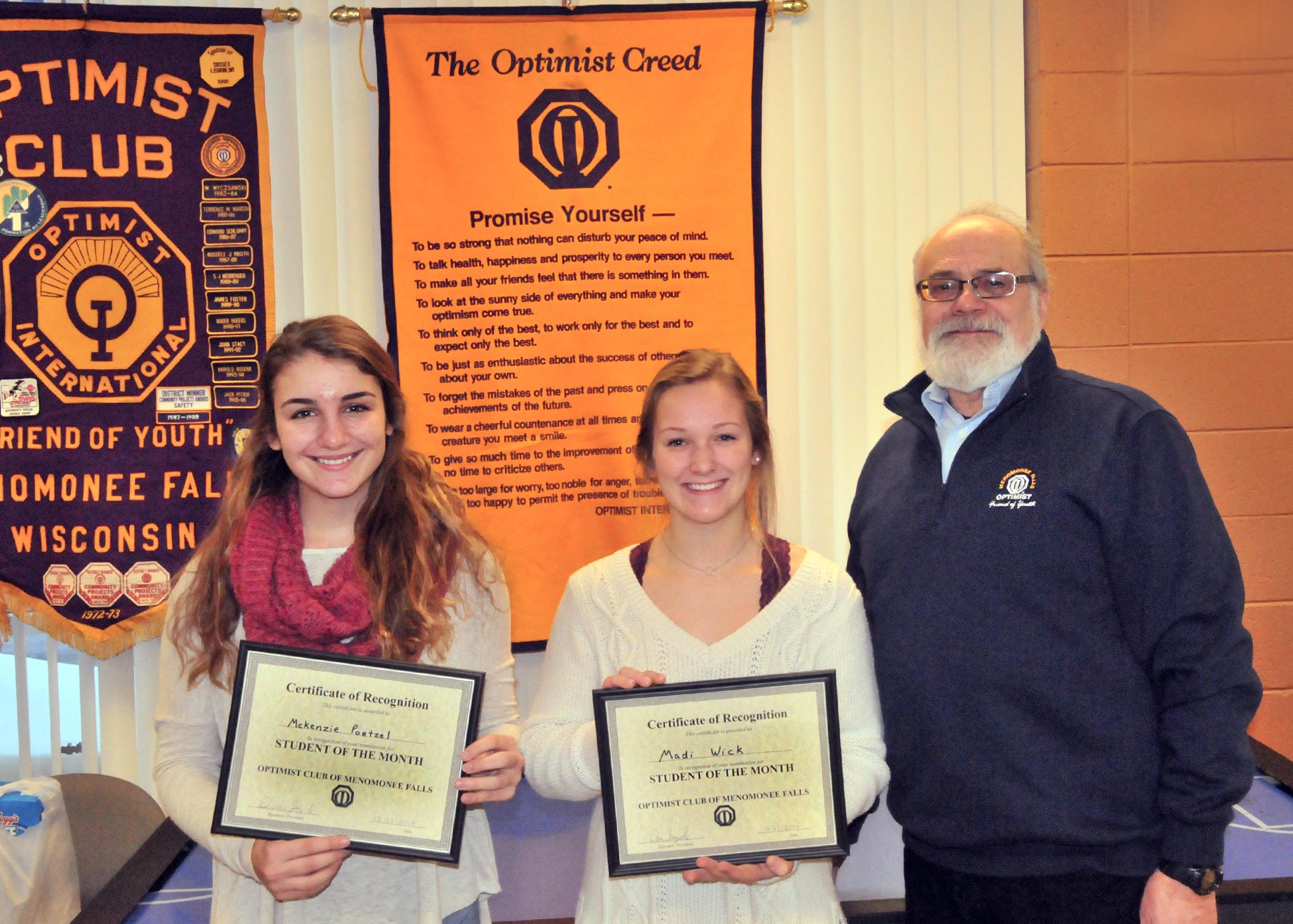 January 2017   Optimist Club of Menomonee Falls