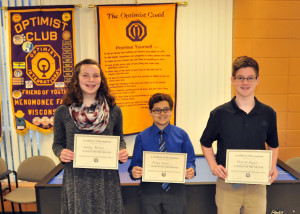 January 2017 Students of the Month (NMS & StMary's)