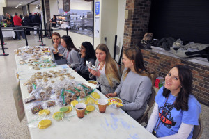 Junior Optimist Club bake sale at Jan 2017 Chili Dinner