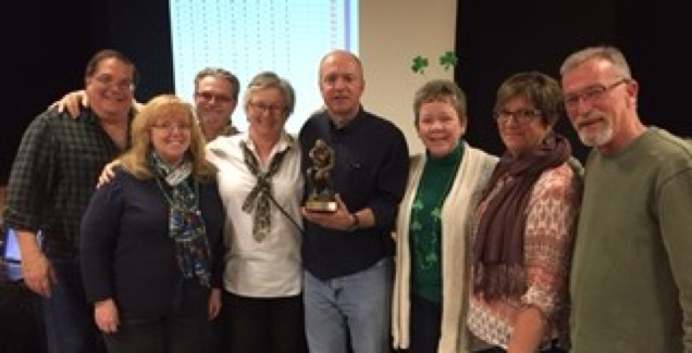 "2017 Trivia Contest winning team ""Irish I Knew The Answer"""